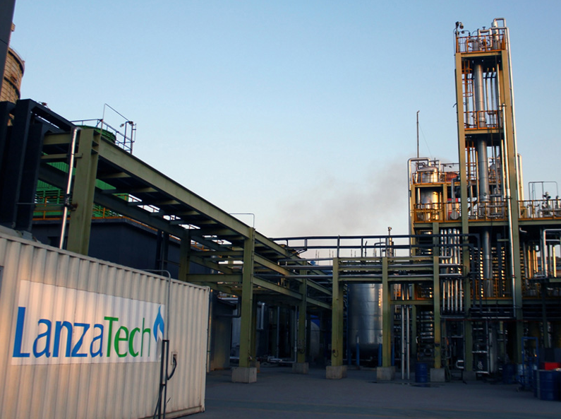 LanzaTech demo plant at BaoSteel Steel Mill.