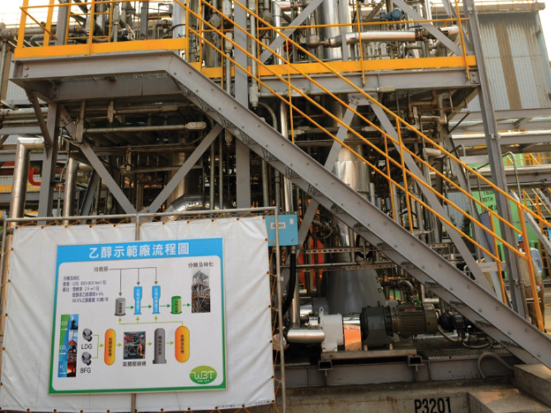 LanzaTech demo plant with WBT in Taiwan.