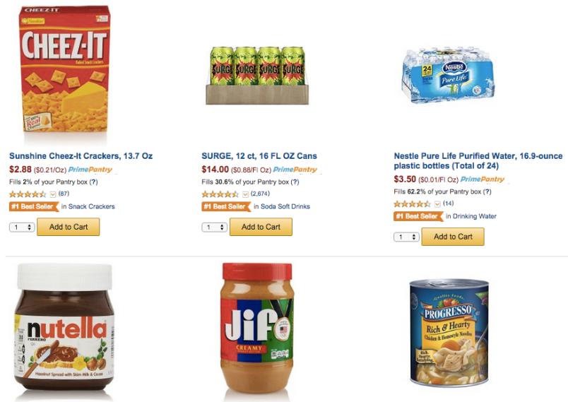 Amazon Prime Pantry screenshot