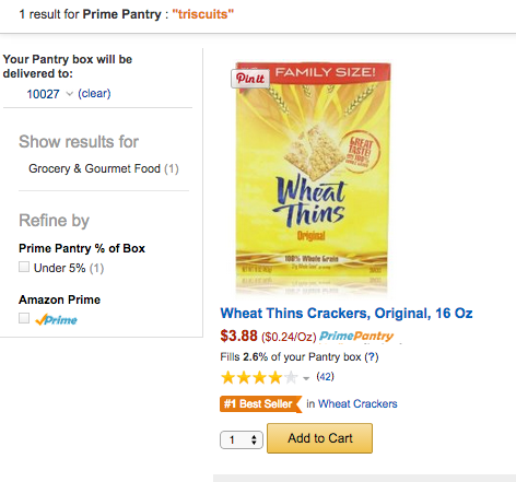 No Triscuits for you.