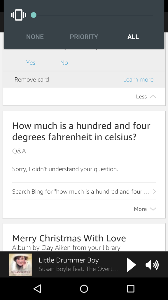 The app uses the card format you may recognize from Google Now.