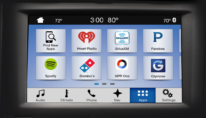 Ford SYNC 3 Apps Screen