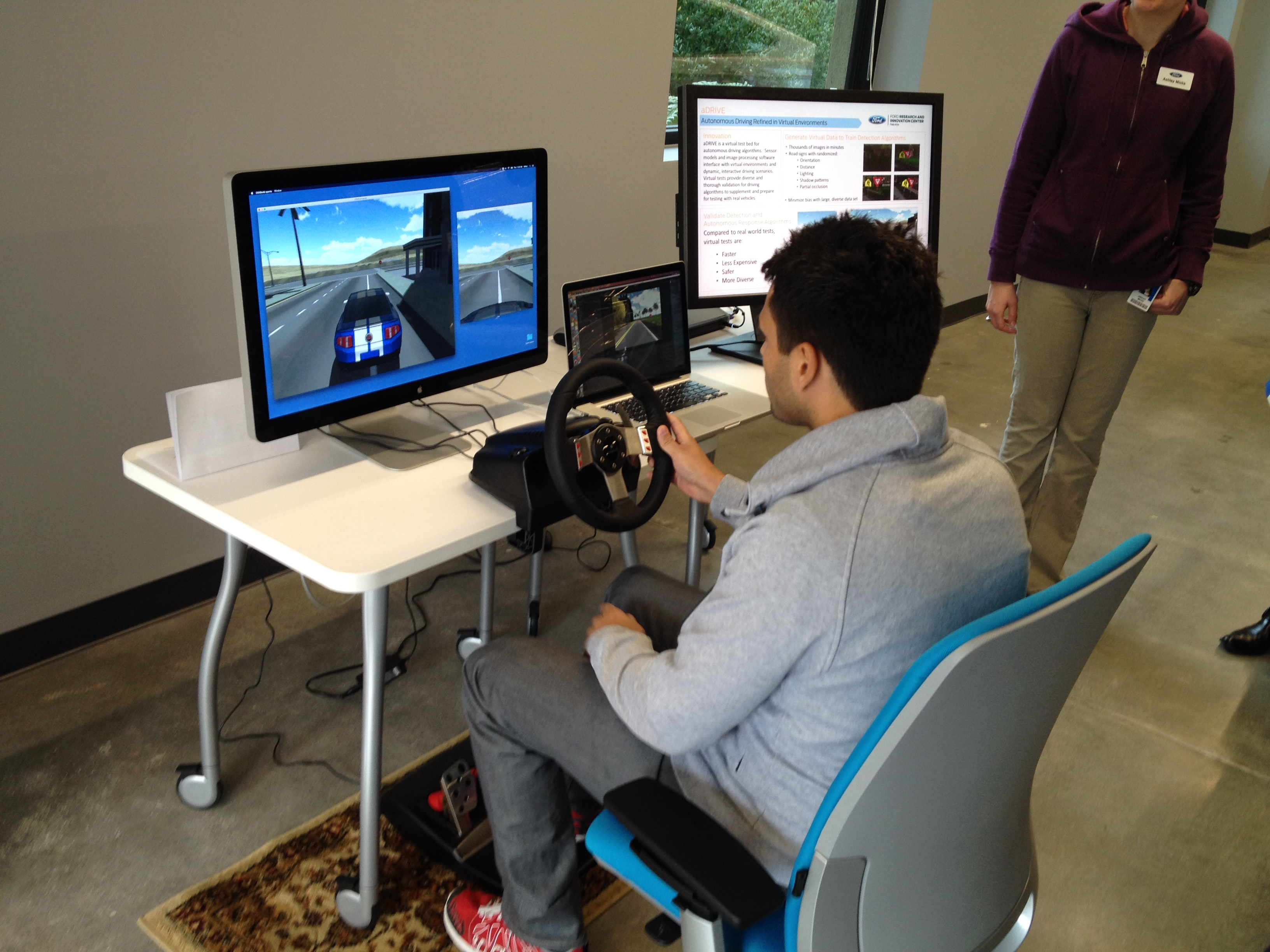 Ford has created a virtual test bed, called aDRIVE, for testing algorithms for its autonomous vehicle tech.