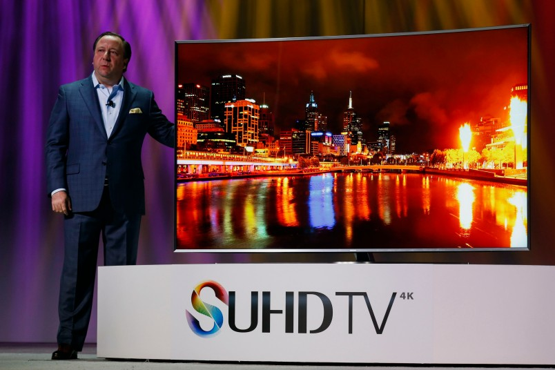 Samsung's SUHD TV, unveiled at CES by Joe Stinziano, the company's executive vice president of home entertainment .