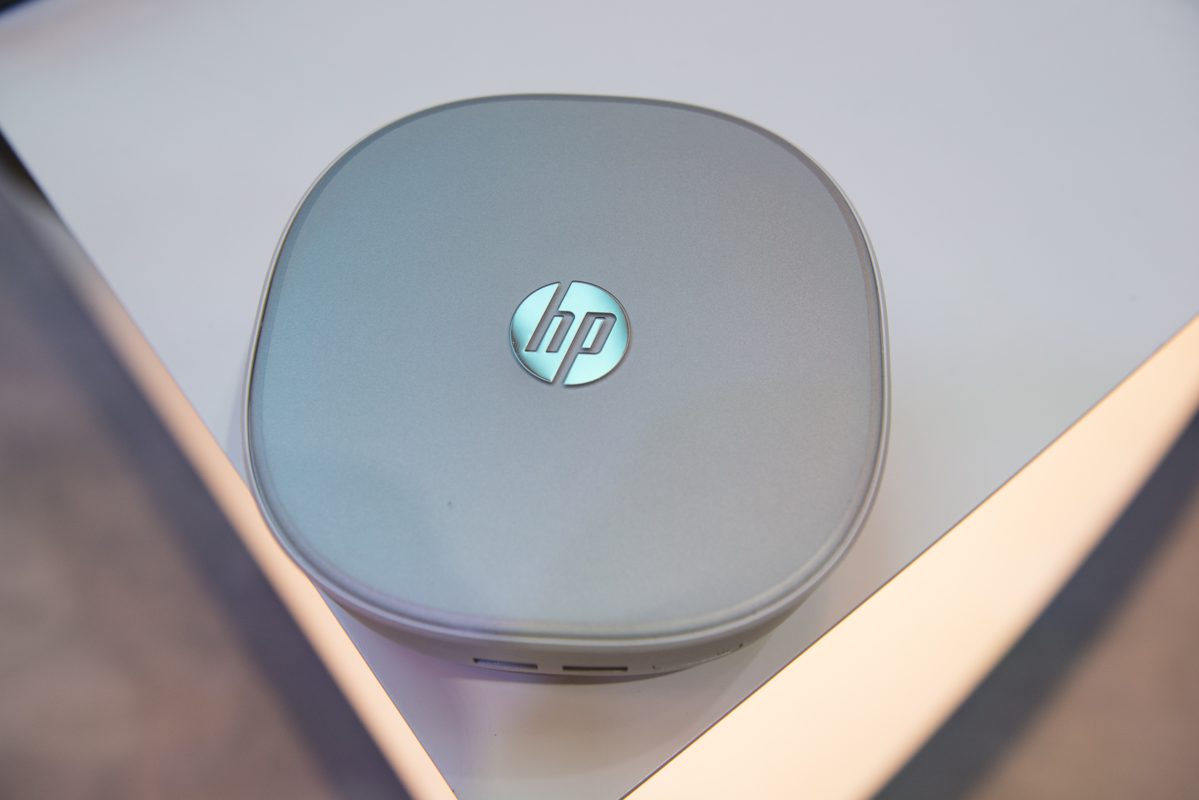 The Hewlett-Packard Co. (HP) Pavillion Mini Desktop computer is displayed at the 2015 Consumer Electronics Show (CES) on Jan. 8, 2015.