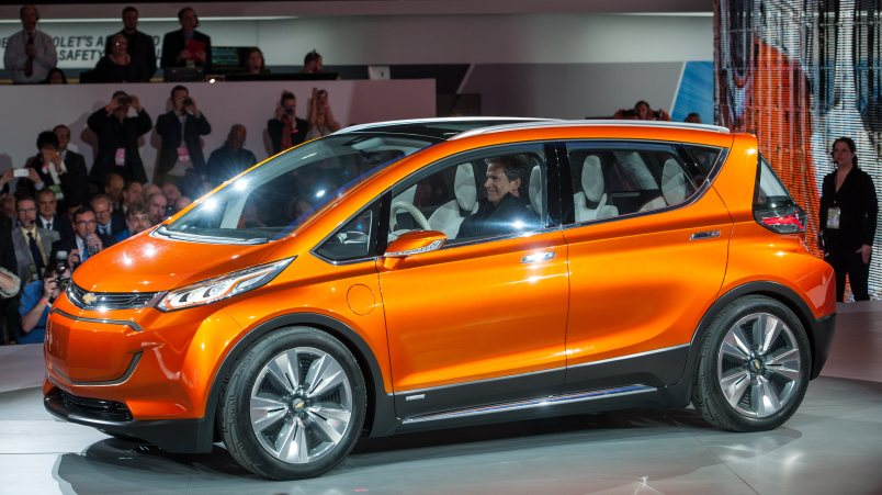 The electric Bolt concept car from GM.
