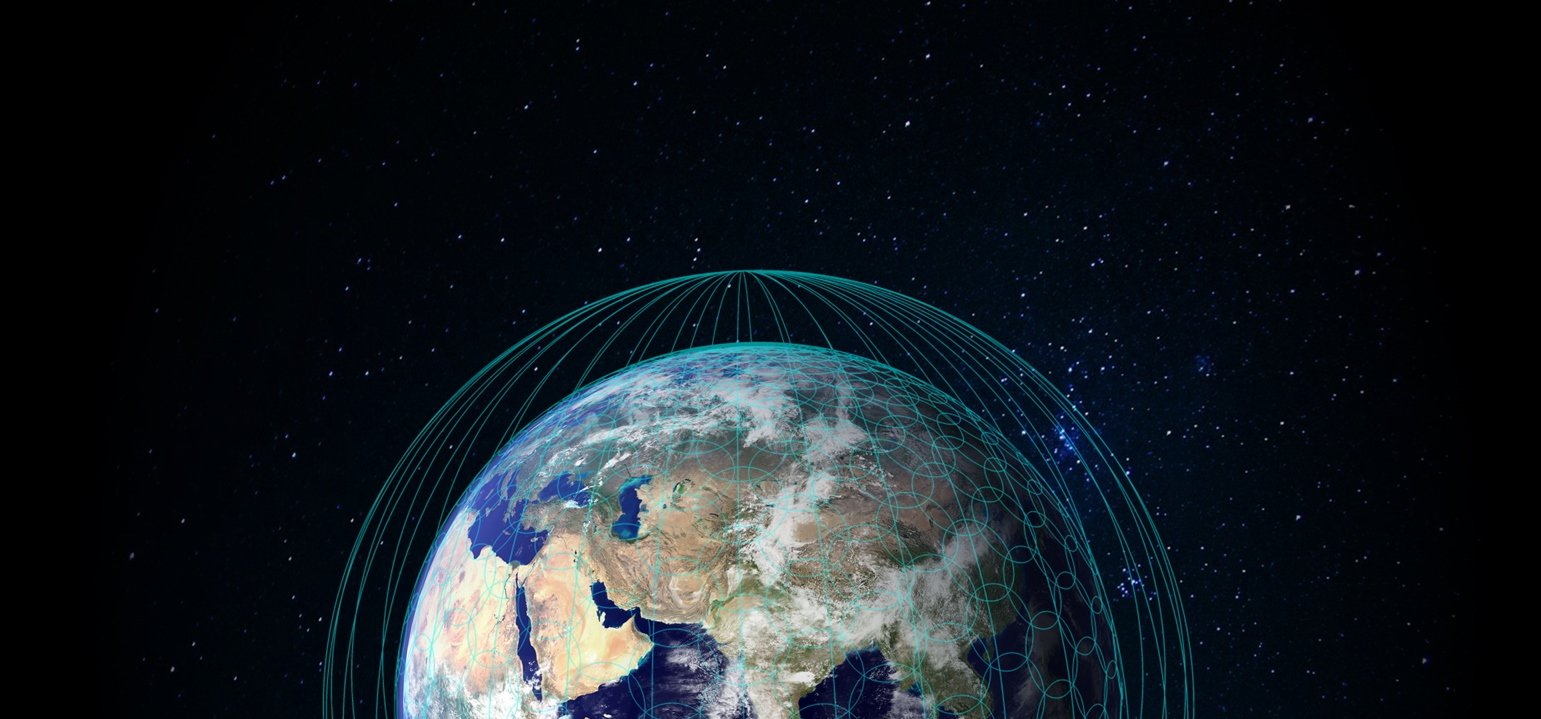 OneWeb Coverage from Space