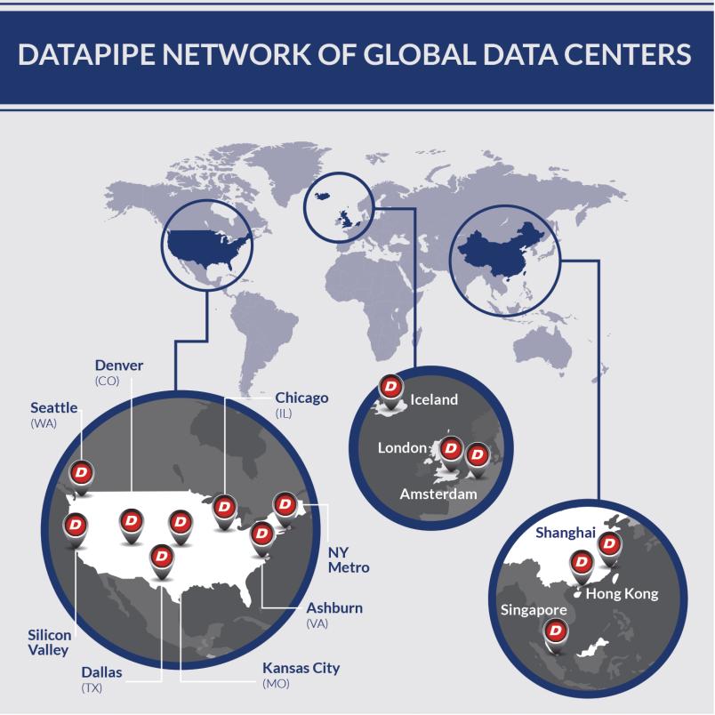 Datapipe data center map