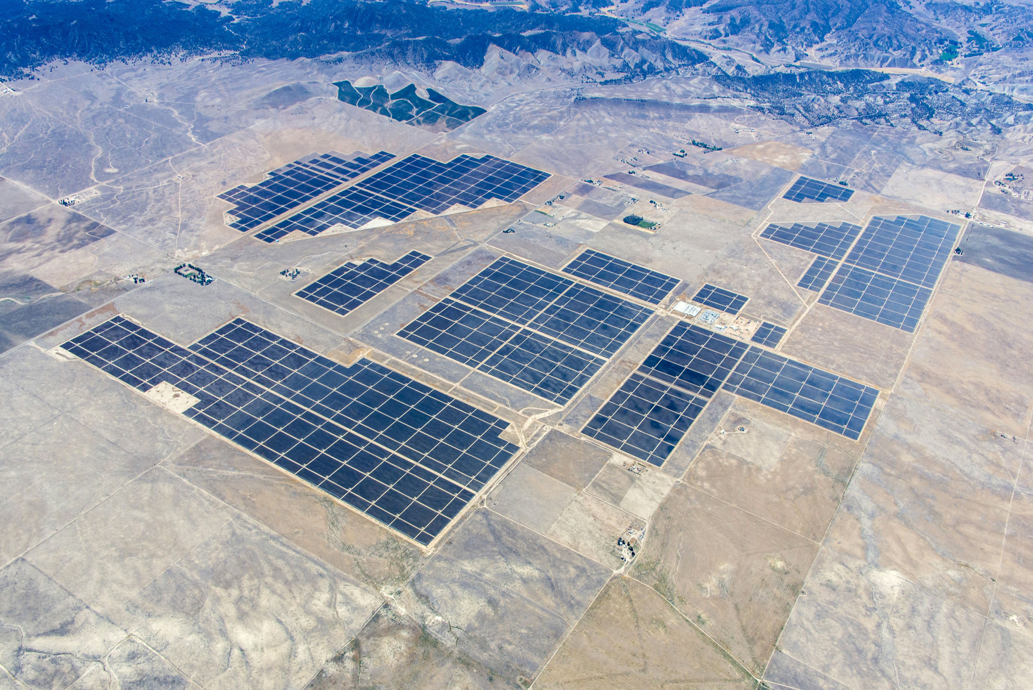 The Topaz solar panel farm, that uses First Solar panels in CA.