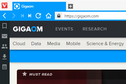 Gigaom rendered on Vivaldi technical preview