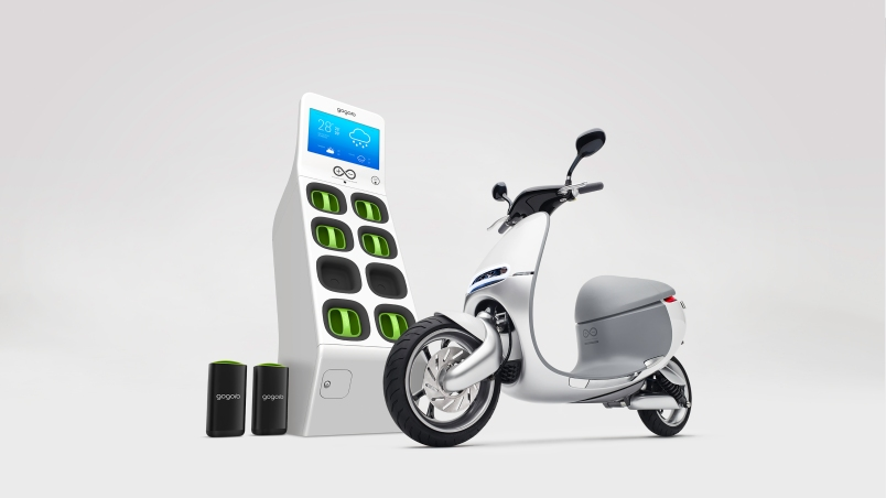Gogoro's electric scooter and battery station