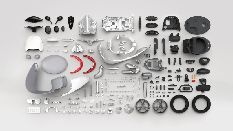 Gogoro's electric scooter parts.