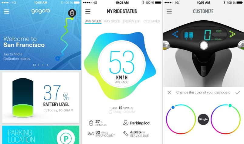 Gogoro's mobile app for iOS