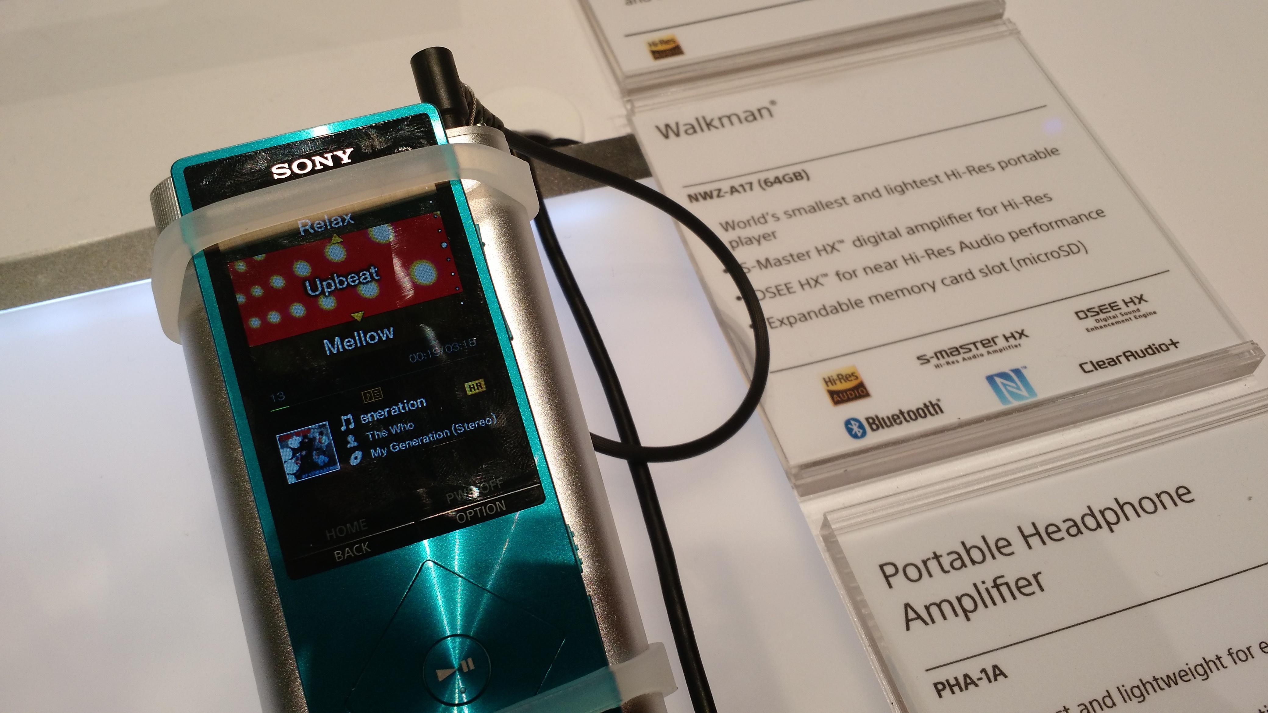 Sony Walkman A17 at CES 2015