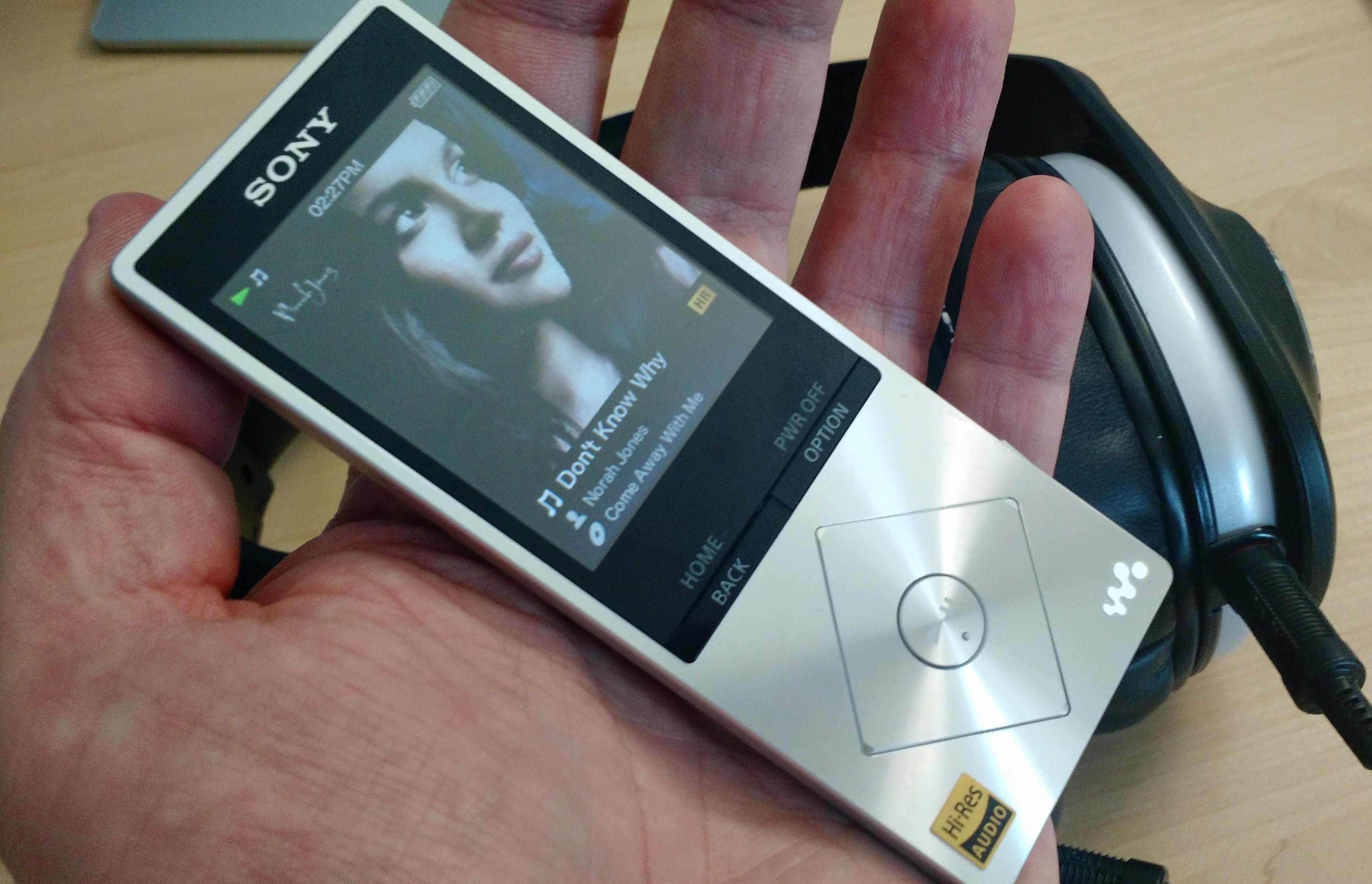 Walkman A17 in hand