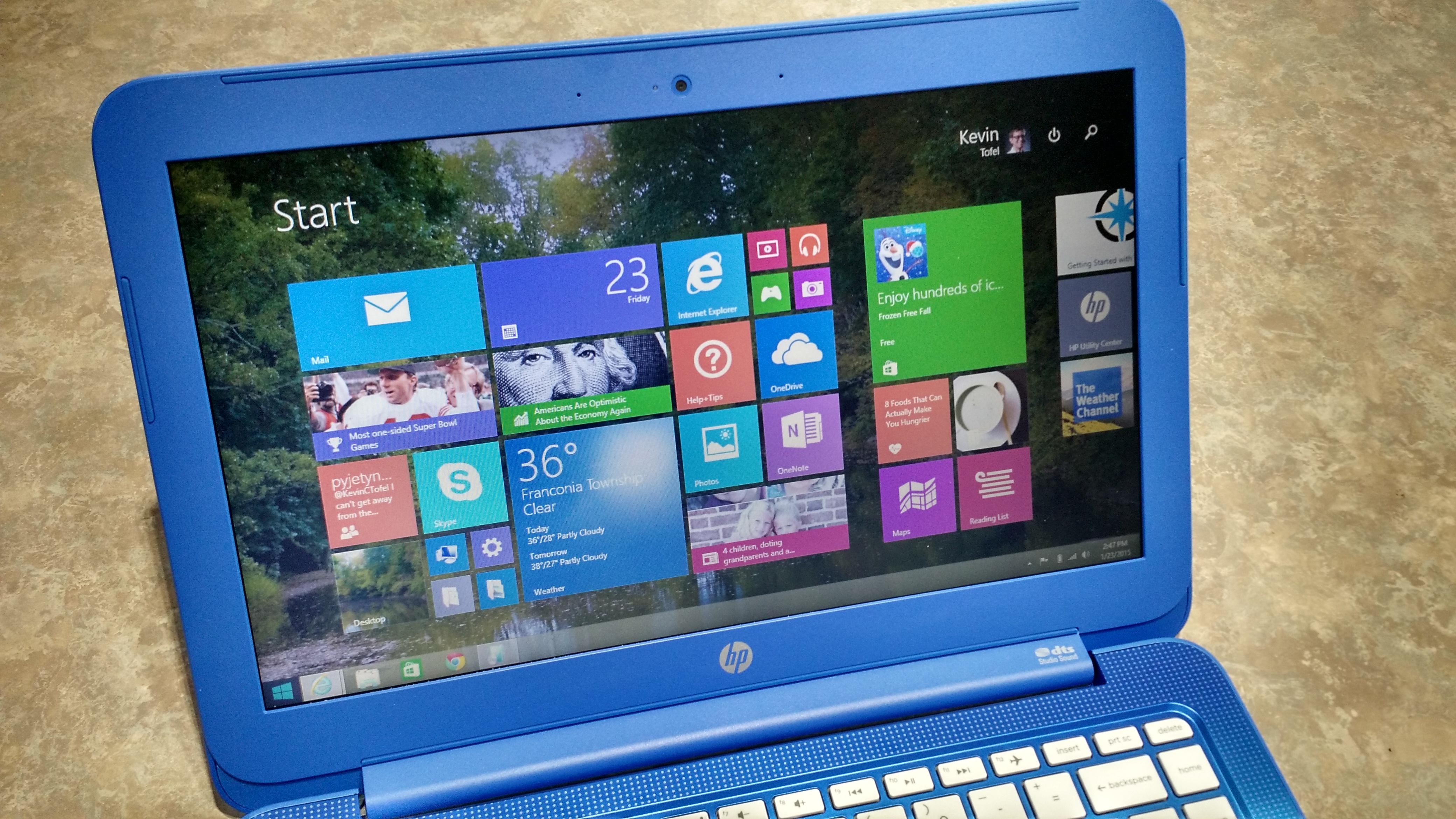 HP Stream 13 screen