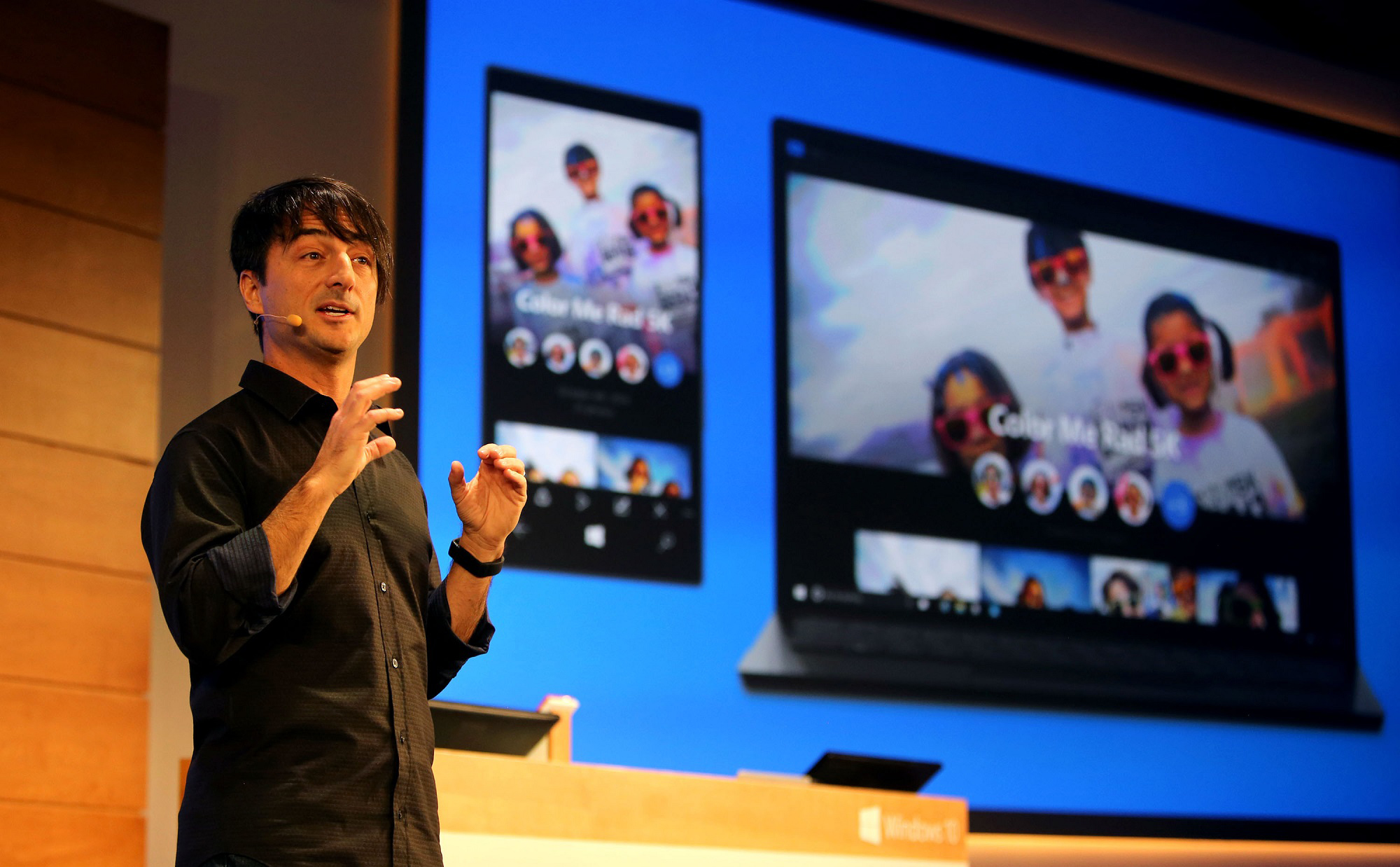 Joe Belfiore, Corporate Vice President of Microsoft's Operating Systems Group, introduces Windows 10.