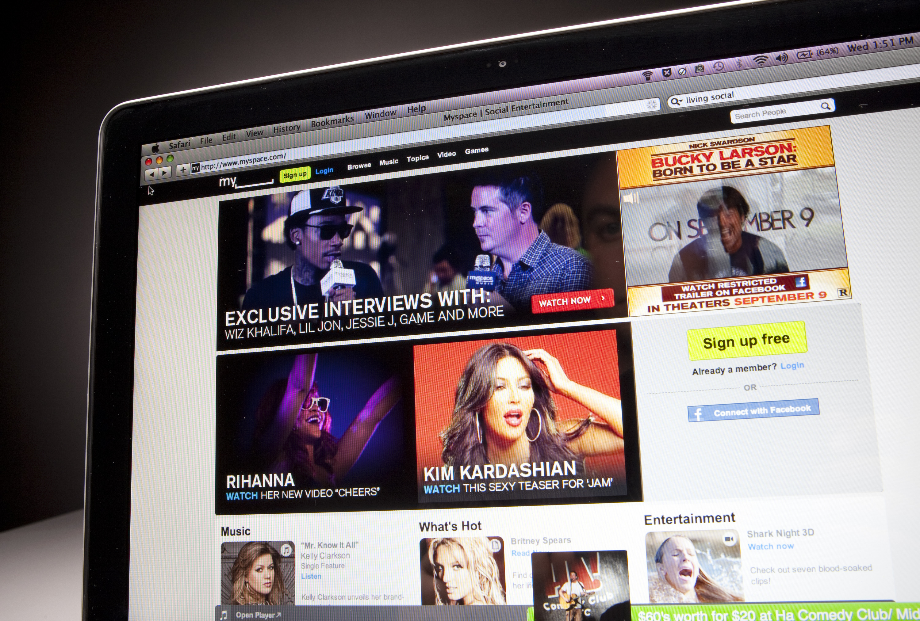 MySpace's new site focuses on delivering video and music.