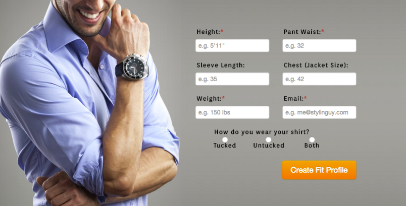 An example of some of the questions Fashion Metric asks.