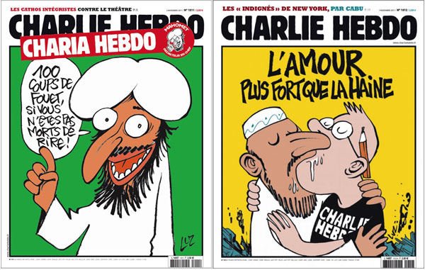 Online outlets showed Hebdo images but offline media didn't. Why?