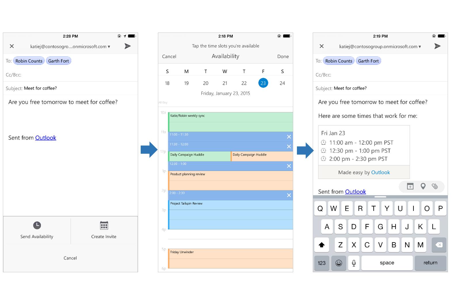 Workflow in new iOS Outlook app