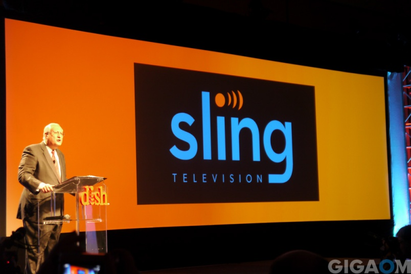 Dish President and CEO Joseph Clayton announced Sling TV at CES Monday.