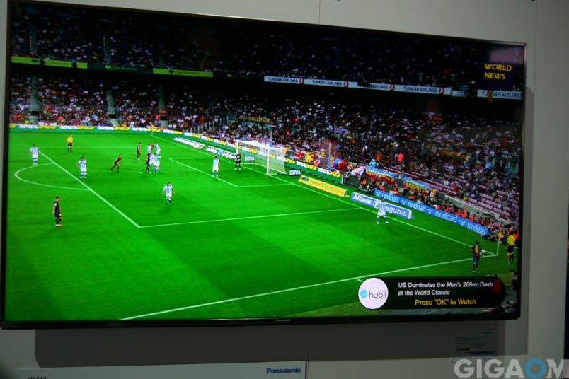 Panasonic's Firefox OS TV features integrated app notification support.