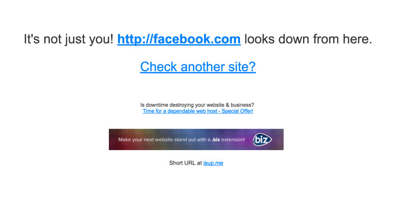 Facebook goes down January 2015 snow
