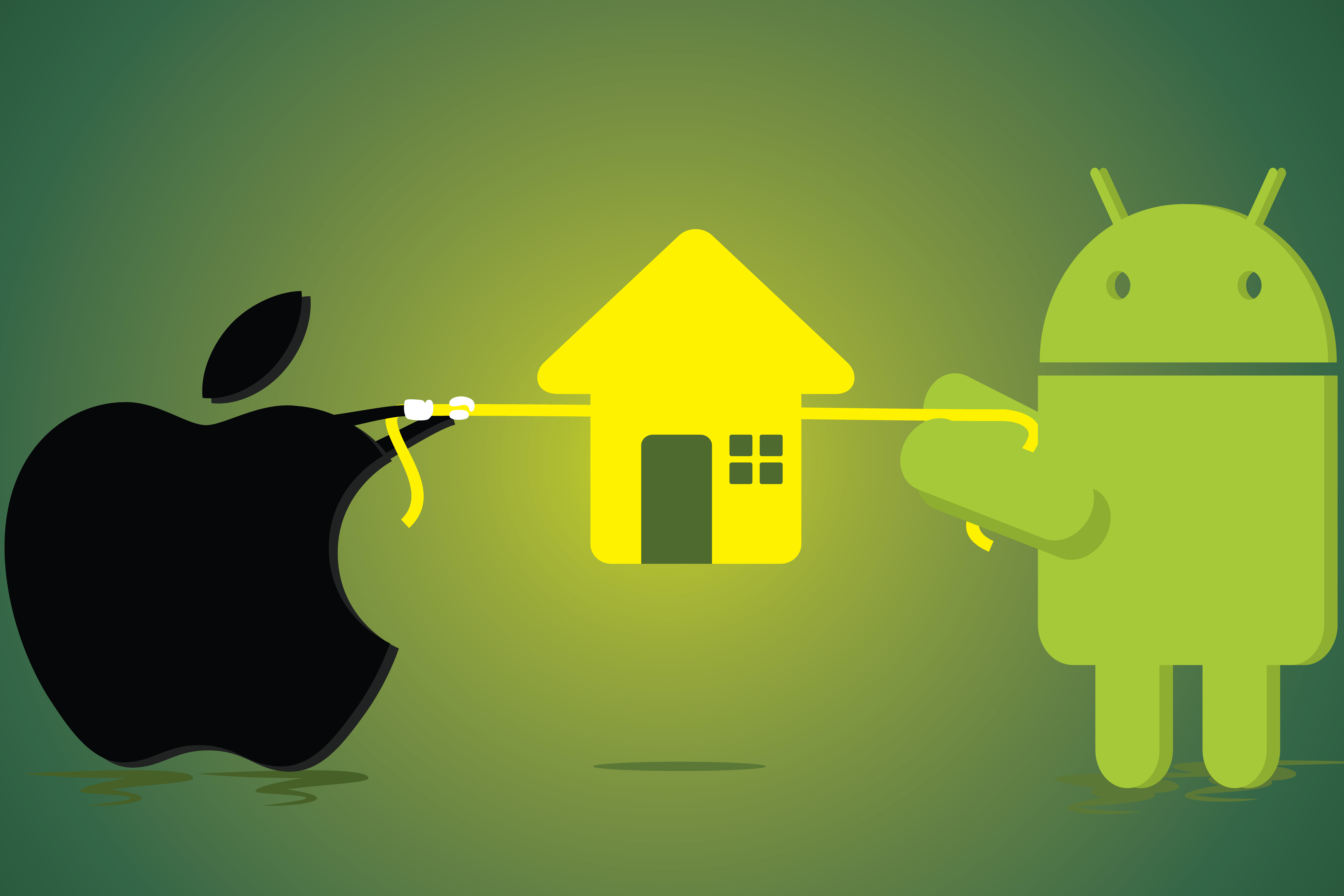 Smart Home tug of war Apple Android