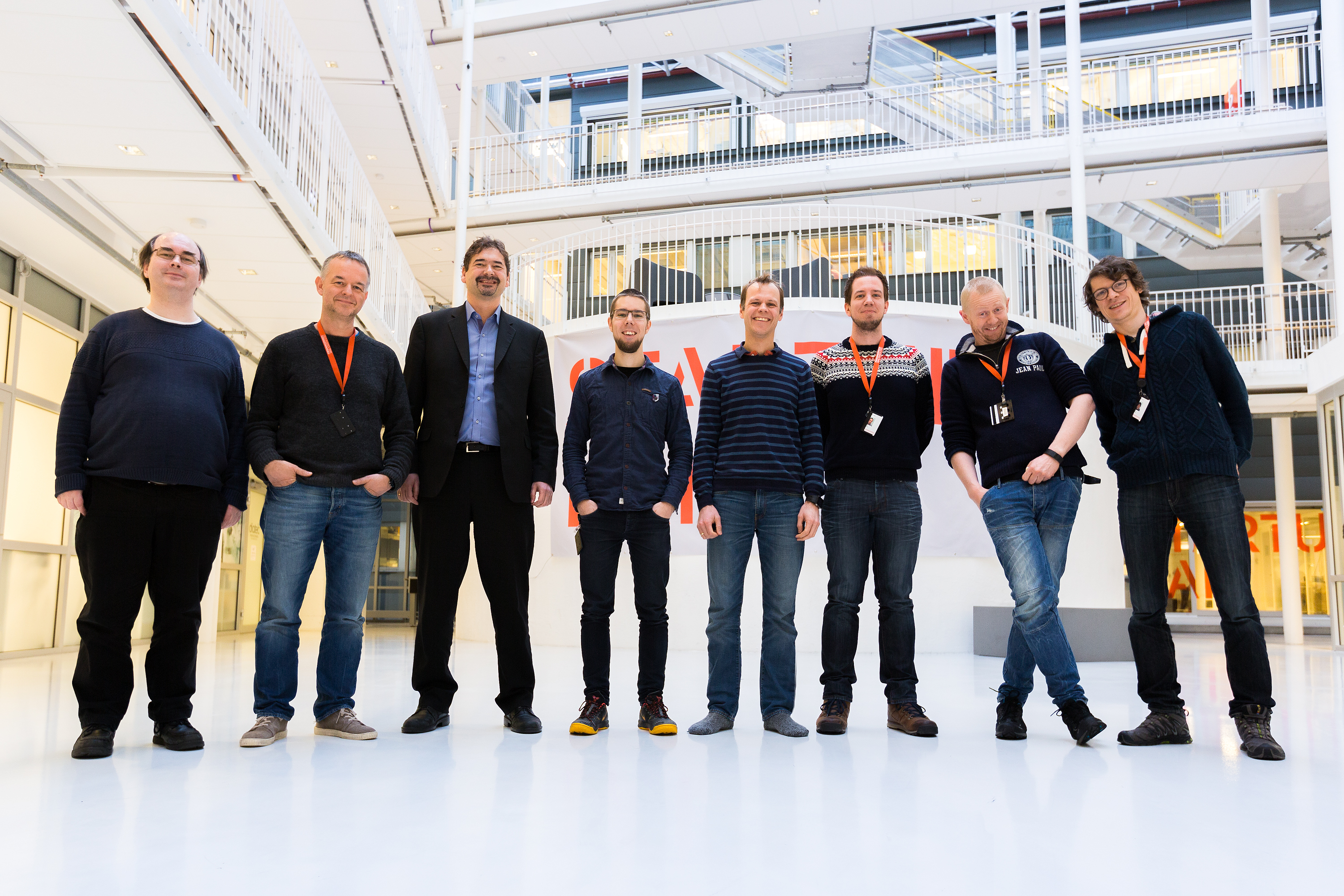 Vivaldi's Oslo-based team (with Jon von Tetzchner third from left)