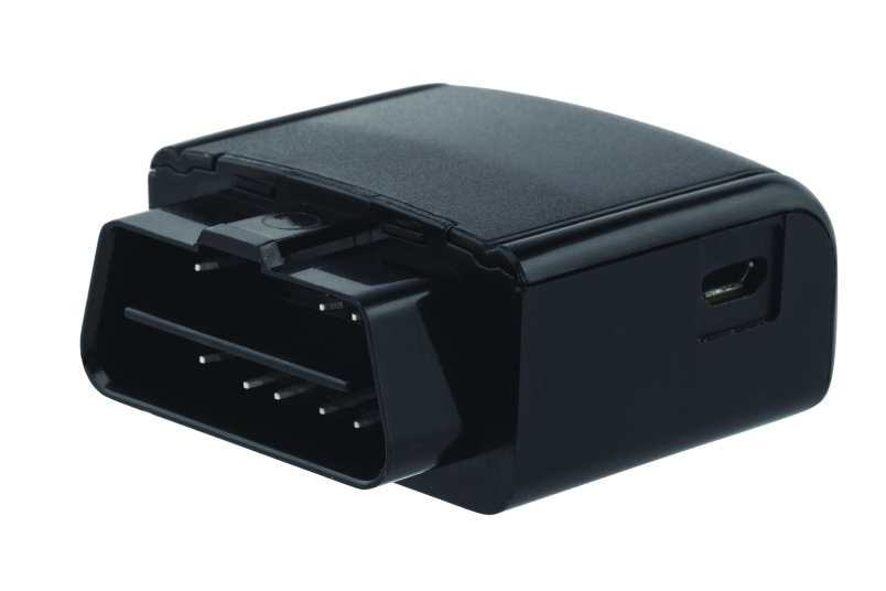 The Verizon Vehicle module plugs into the OBD-II port of your car and communicates with a visor speaker and mic