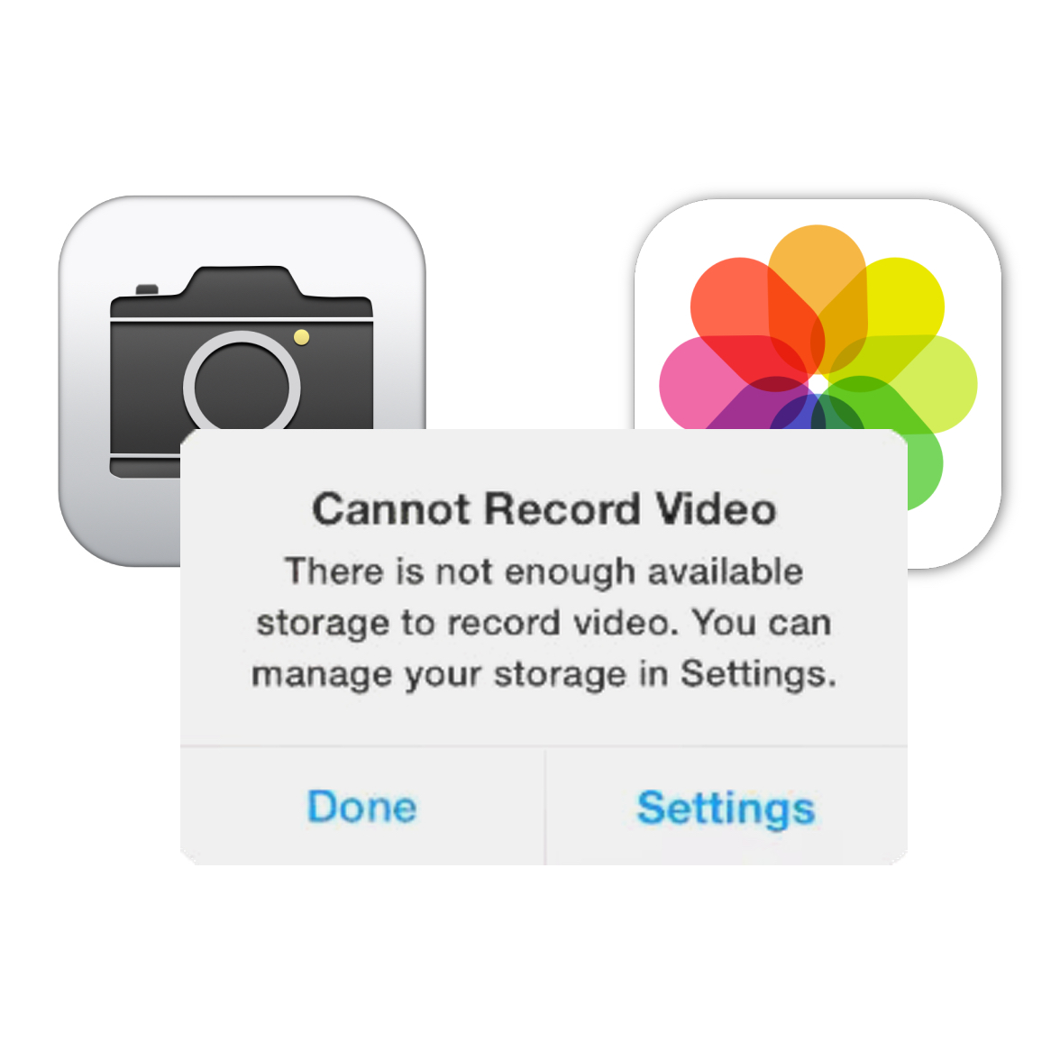 No Space to Save Photos and Videos