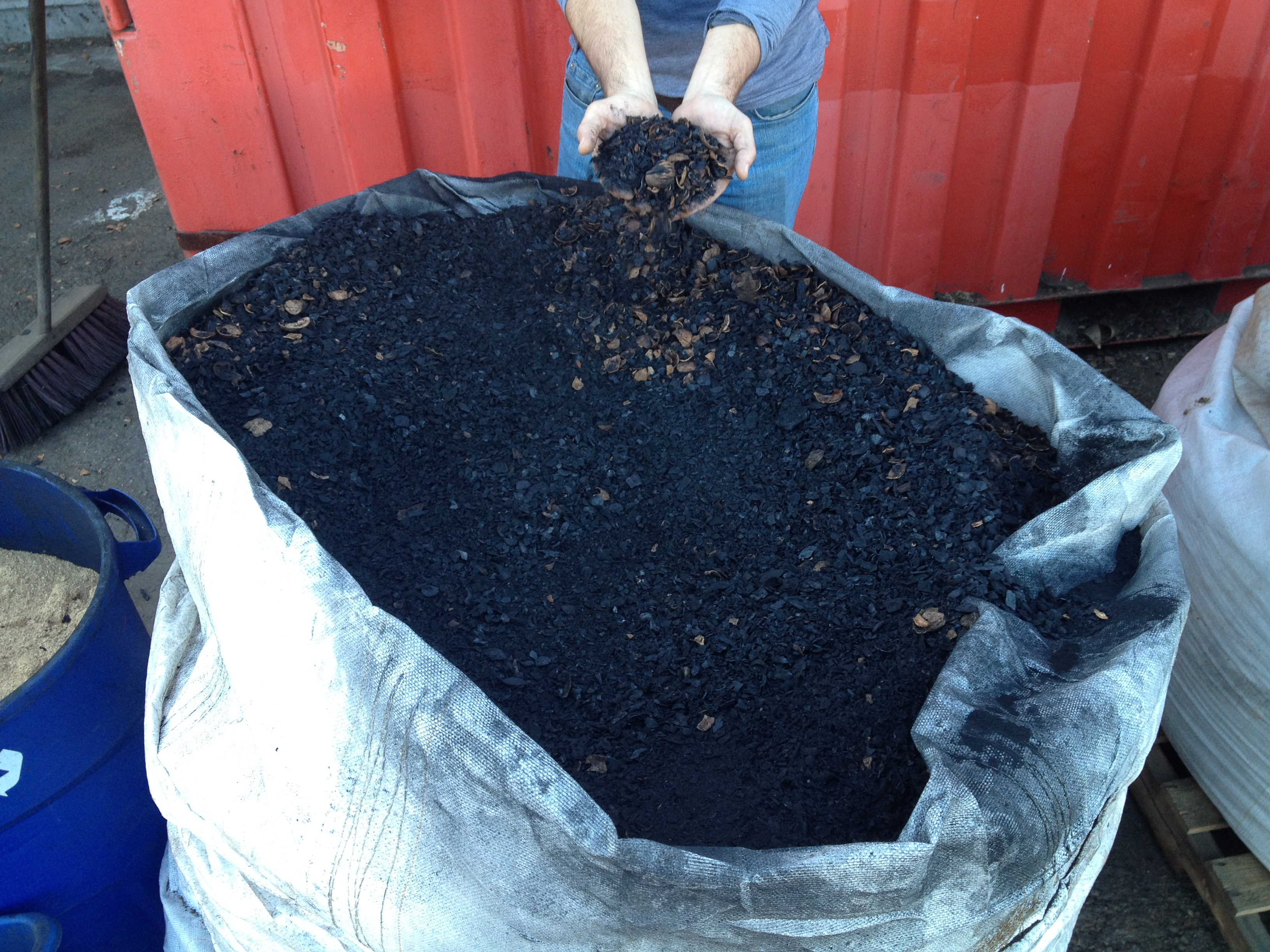 The by-product of the gasifiers is that they produce biochar, which can be added to soil as a fertilizer.