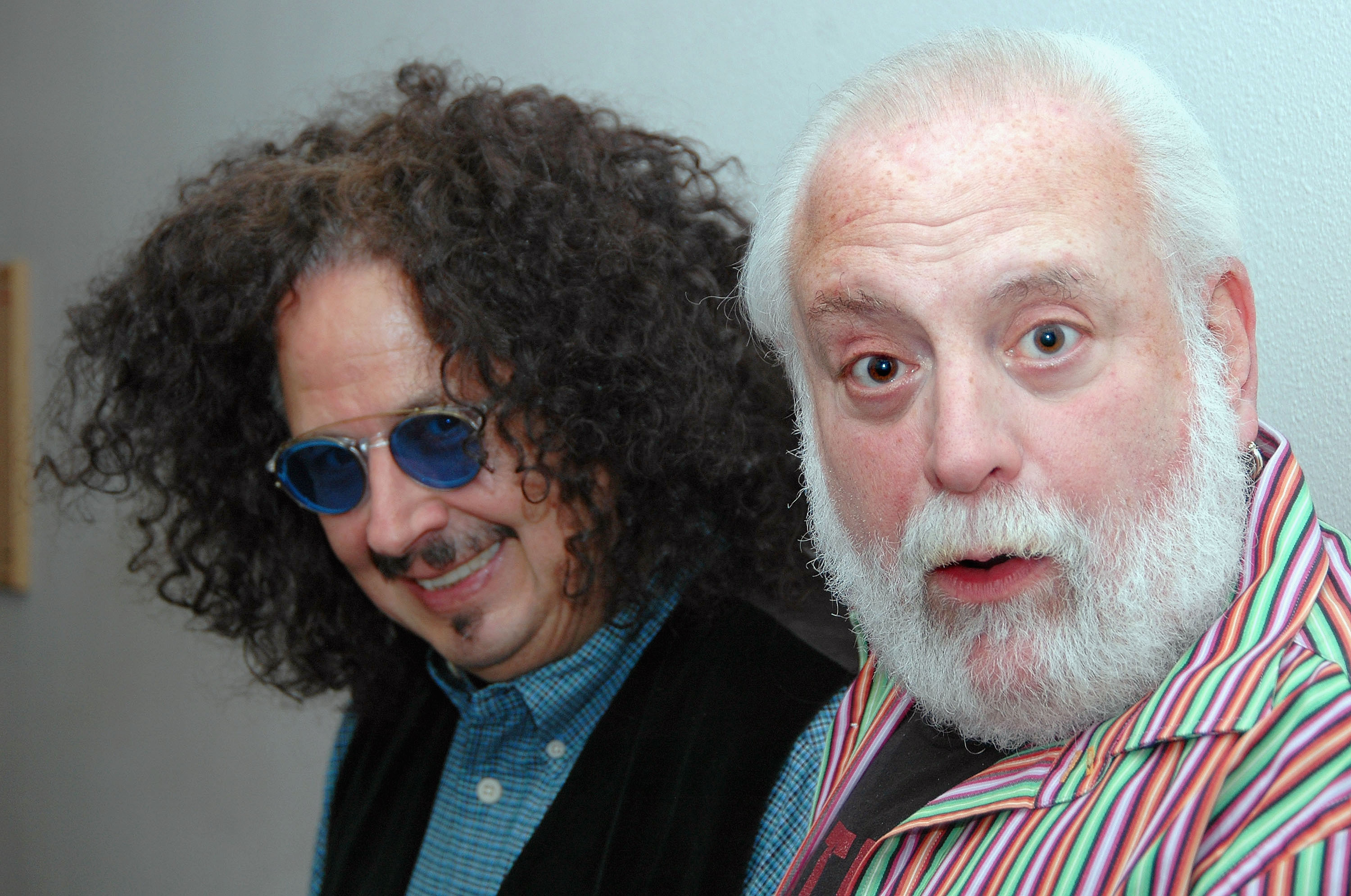 Mark Volman and Howard Kaylan of the 1960's pop-rock group The Turtles pose backstage at Route 66 Casino Legends Theater on July 30, 2005 in Albuquerque, New Mexico. After The Turtles disbanded in 1970, Volman and Kaylan joined Frank Zappa and the Mothers of Invention and later recorded as Flo & Eddie.