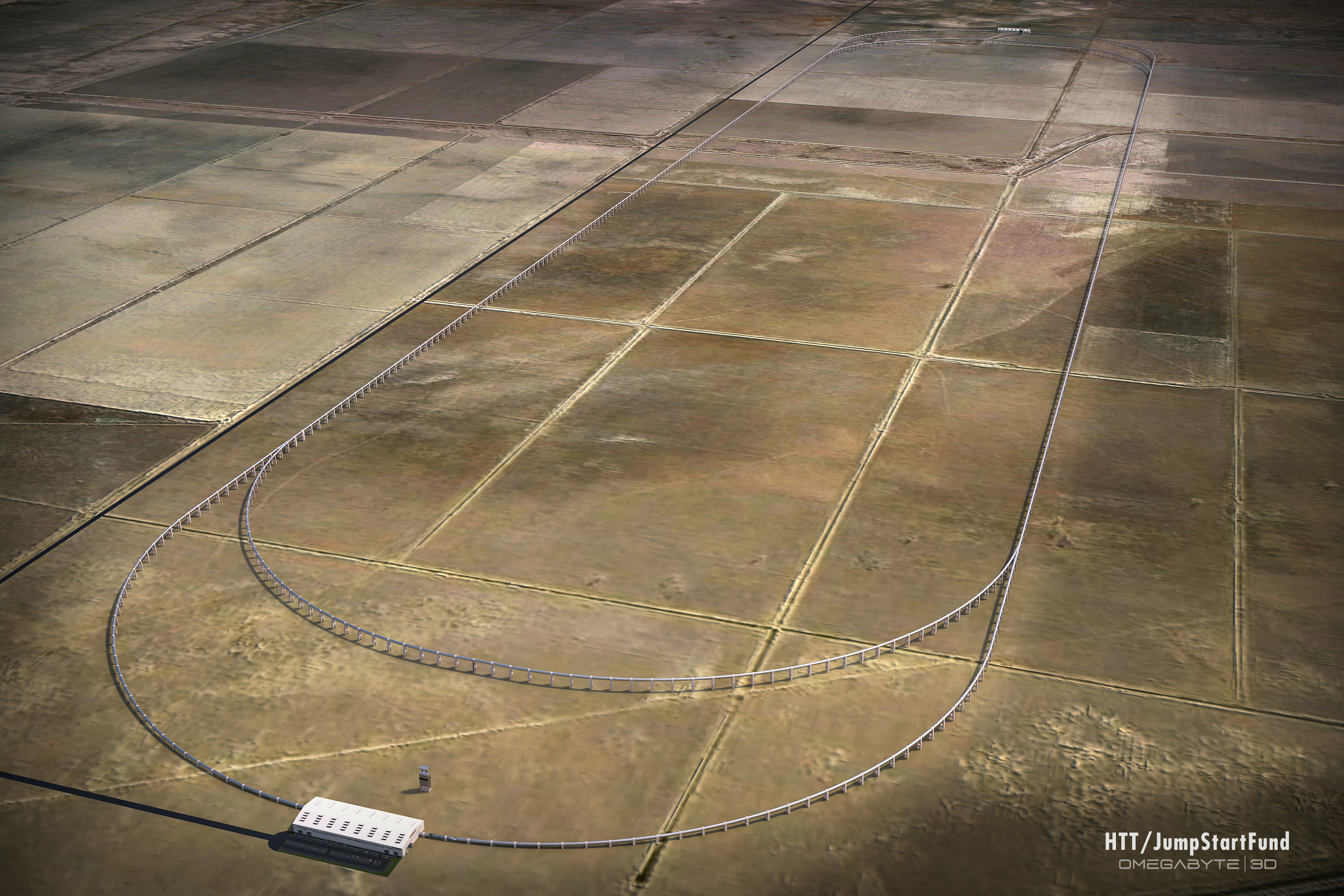 A rendering of the proposed test track.