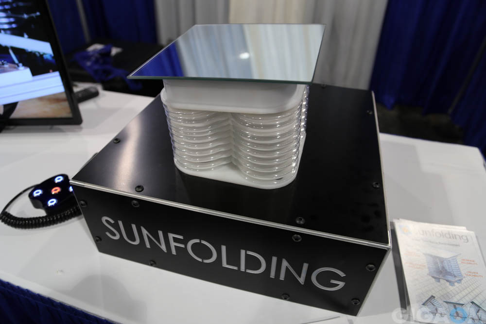 Sunfolding, out of Otherlab, makes a plastic low cost solar tracker.