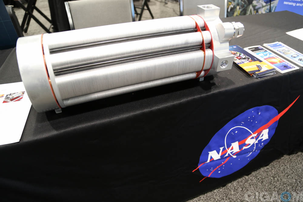 Some high cost and extreme energy innovations are made for space. This is a fuel cell shown off by NASA at ARPA-E 2015.