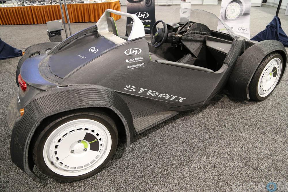 Local Motors' 3D printed car on display at the ARPA-E Summit 2015.