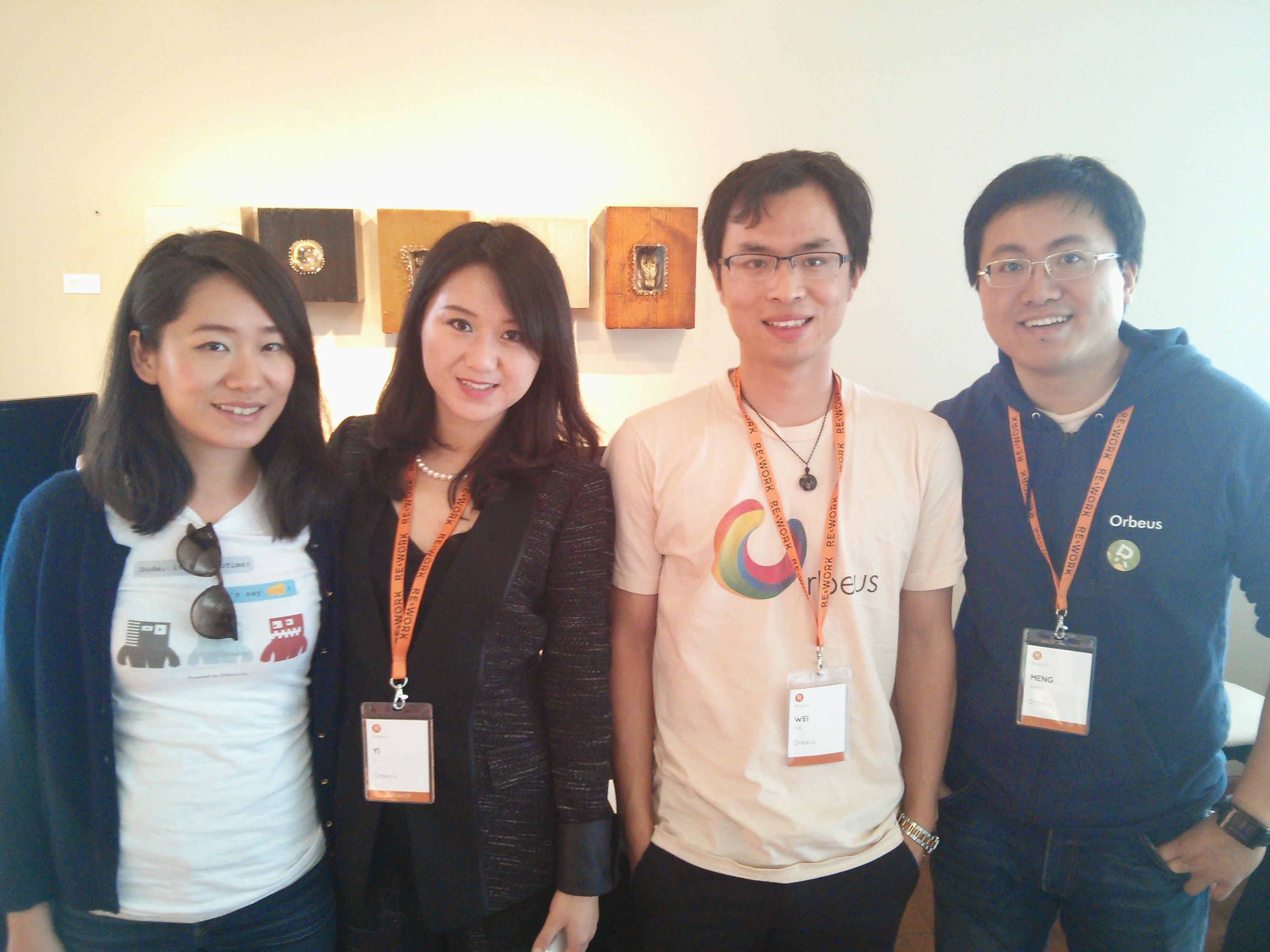 The Orbeus team. L to R: TK, Yi Li, Wei Xia and Meng Wang.