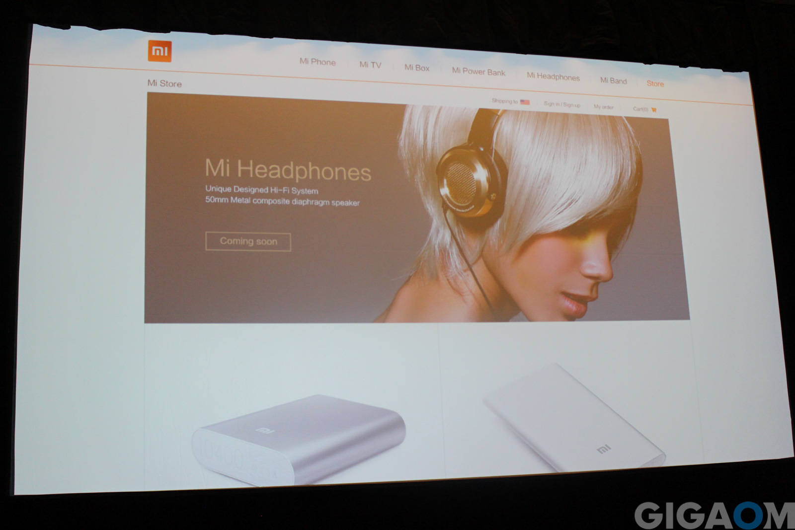 Xiaomi's website, as it will be available to U.S. users soon.