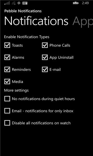 pebble notifications wp