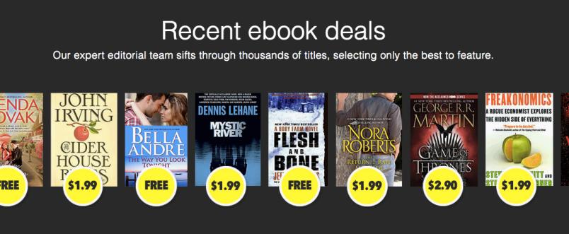 A selection of recent BookBub deals.