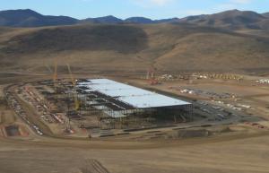 Construction of Tesla's gigafactory is underway.