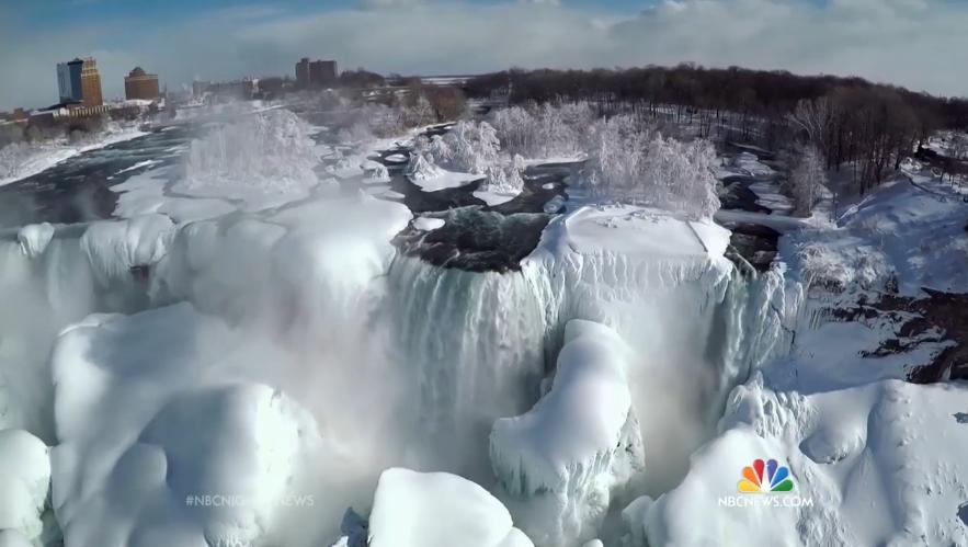 Niagara Fall frozen