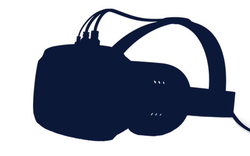 A silhouette of a virtual reality headset believed to be the Valve SteamVR surfaced on Reddit February 24.
