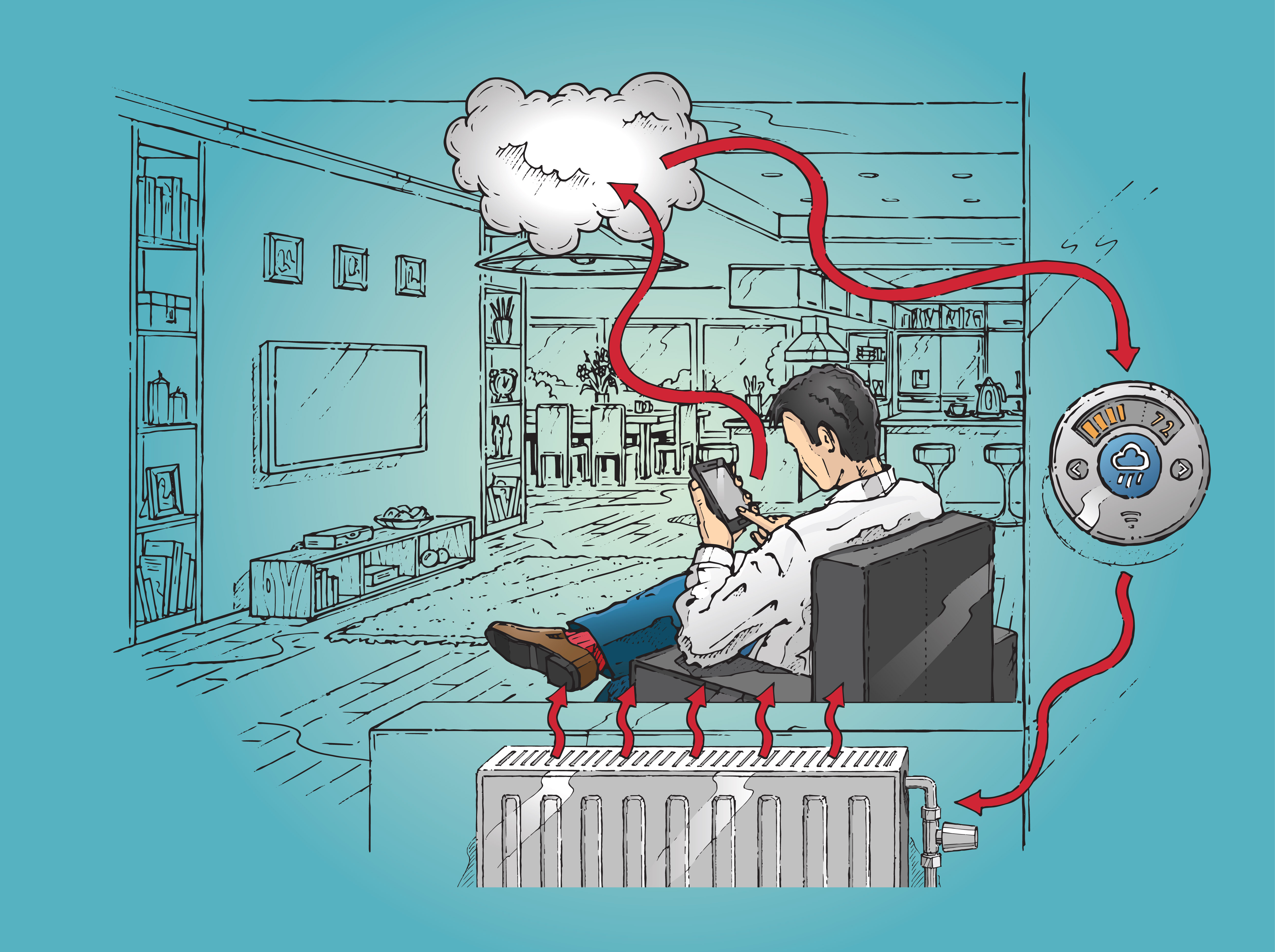 Internet of things cloud illustration