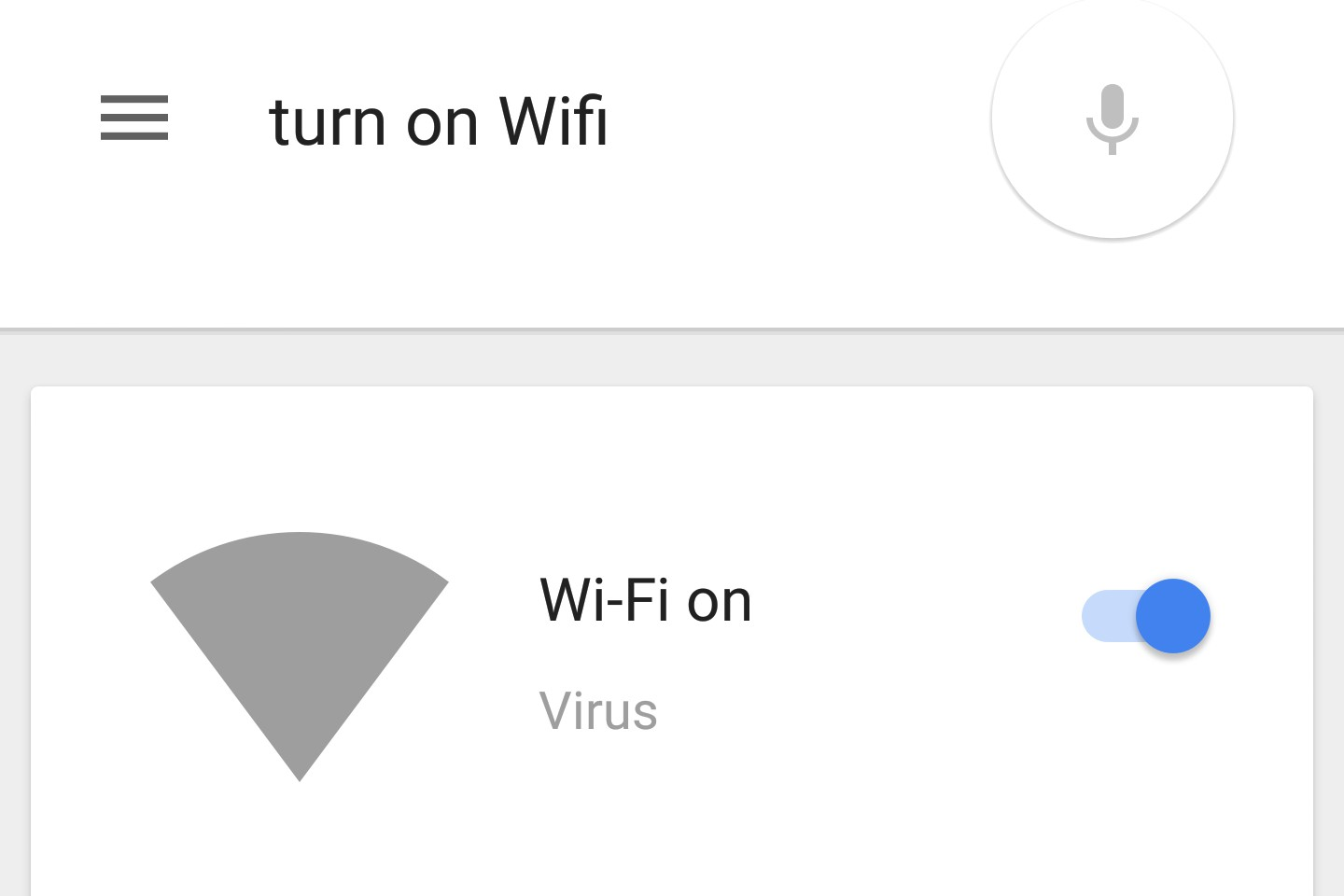 turn wifi on voice android