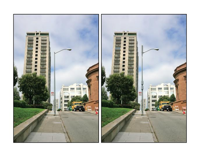 A rendering of what two small cells (on different frequencies) would look like on an SF light pole.