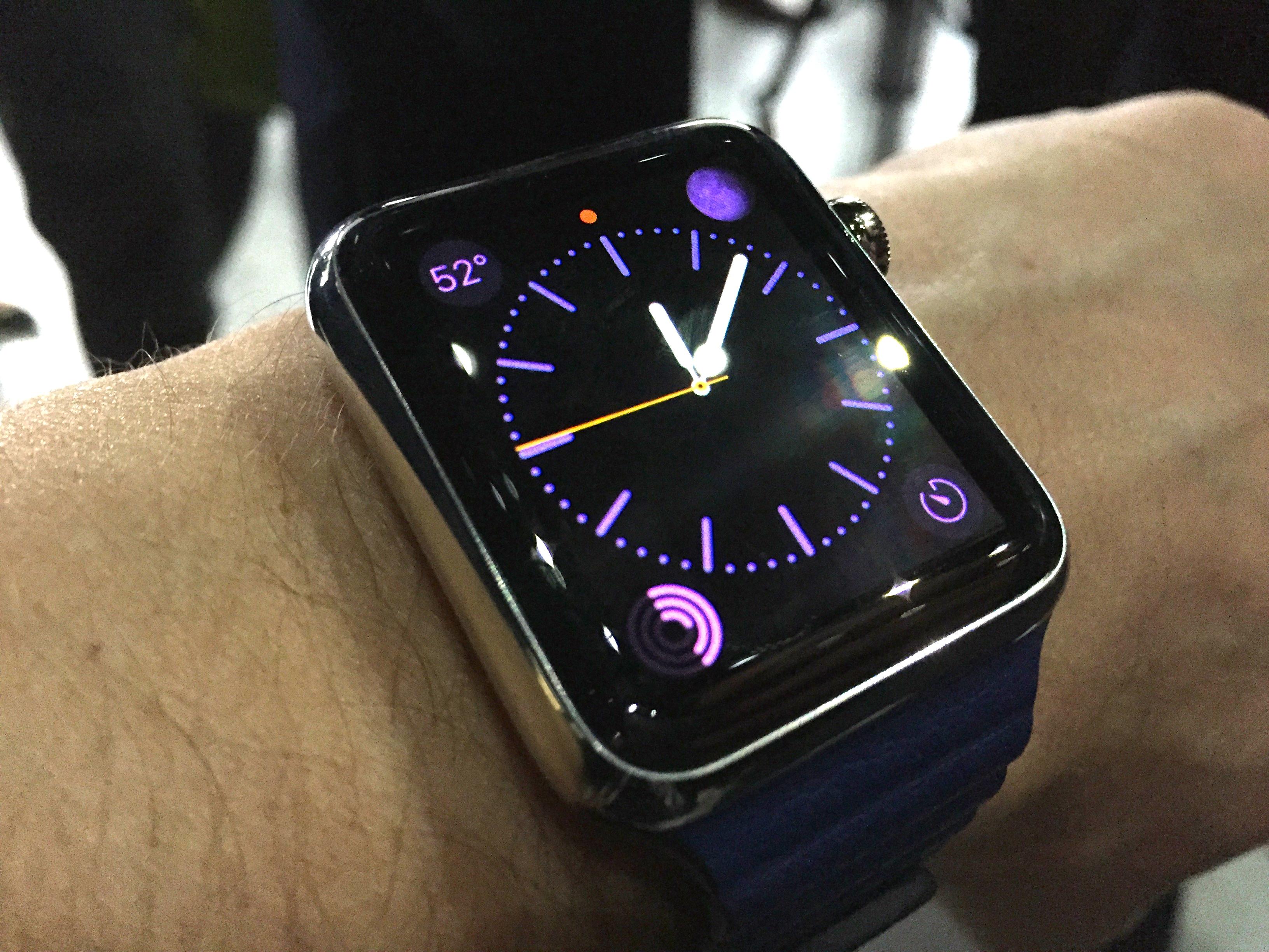 Apple Watch 42mm on wrist